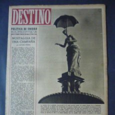 Coleccionismo de Revista Destino: REVISTA DESTINO Nº 340-22 DE ENERO 1944-LA HEGEMONIA DEL BALTICO-LA CUESTION CEZANNE POR AZORÍN. Lote 49410913