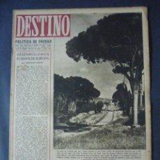 Coleccionismo de Revista Destino: REVISTA DESTINO Nº 342-5 DE FEBRERO 1944-LAS LETRAS ITALIANAS POR HUMBERTO MASSI-EL JOVEN EDISON. Lote 49422742