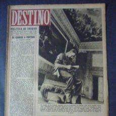 Coleccionismo de Revista Destino: REVISTA DESTINO Nº 344-19 DE FEBRERO DE 1944-LA PROPAGANDA EN LA GUERRA-THEODORE FONTANE POR N.LUJAN. Lote 49933845