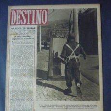 Coleccionismo de Revista Destino: REVISTA DESTINO Nº 345-26 DE FEBRERO DE 1944-CONFLICTO MUNDIAL-EL MUNDO Y LA POLITICA POR ROMANO. Lote 49933982