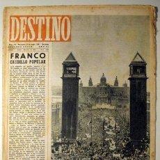 Coleccionismo de Revista Destino: DESTINO. NÚM. 515. 31 DE MAYO DE 1947 ((REVISTA)). Lote 29462156