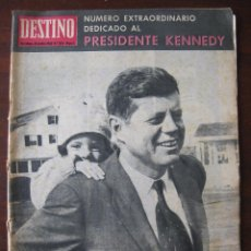 Coleccionismo de Revista Destino: REVISTA; DESTINO. Nº 1373, AÑO 1963. REPORTAJE ASESINATO DE KENEDI. Lote 50789551