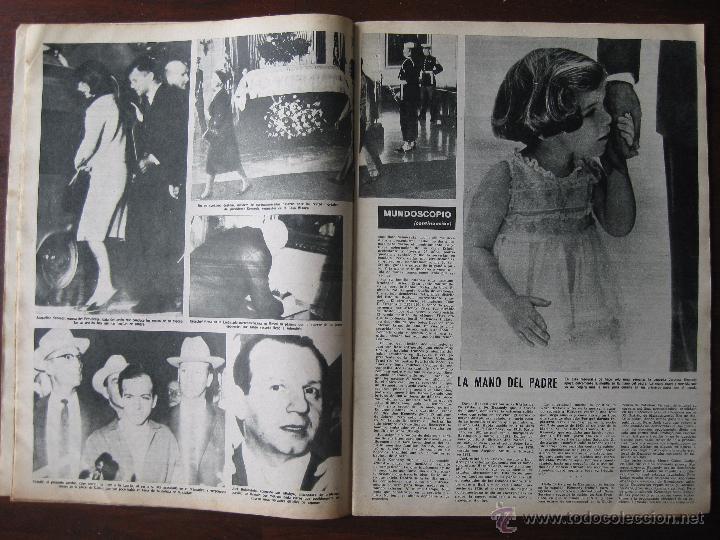 Coleccionismo de Revista Destino: Revista; Destino. nº 1373, año 1963. Reportaje asesinato de Kenedi - Foto 2 - 50789551