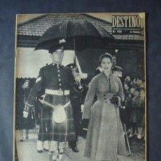 Coleccionismo de Revista Destino: REVISTA DESTINO Nº 952-5 DE NOVIEMBRE 1955-EL NÓ DE LA PRINCESA-ENTREVISTA, FRANCO-FOSTER DULLES. Lote 51537638