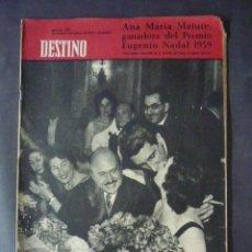 Colecionismo da Revista Destino: REVISTA DESTINO Nº1170-9 DE ENERO 1960-ANA MARIA MATUTE, GANADORA DEL PREMIO EUGENIO NADAL 1959. Lote 51593540