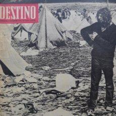 Coleccionismo de Revista Destino: DESTINO, NÚM. 1718. 1970. REPORTAJE HIPPIE. FESTIVAL POP EN LA ISLA DE WIGHT. FOTOS DE J. IRIARTE. Lote 51649441