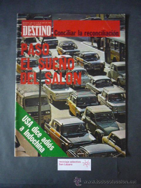 REVISTA DESTINO Nº 1960-24 DE ABRIL 1975-¿QUE LENGUA HABLAN LOS VALENCIANOS?-LA NOCHE DIONISICA (Coleccionismo - Revistas y Periódicos Modernos (a partir de 1.940) - Revista Destino)