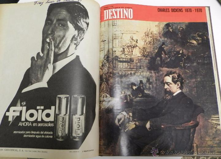 Coleccionismo de Revista Destino: REVISTA DESTINO. AÑO 1970 COMPLETO. - Foto 6 - 53319449