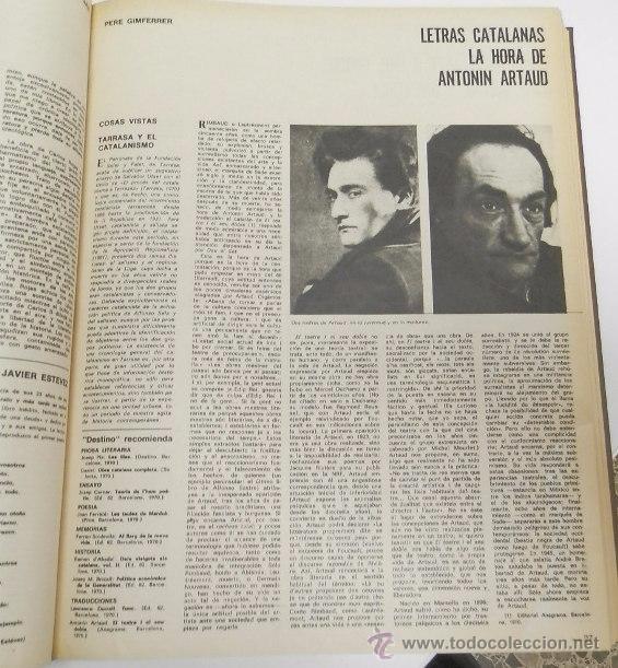 Coleccionismo de Revista Destino: REVISTA DESTINO. AÑO 1970 COMPLETO. - Foto 7 - 53319449