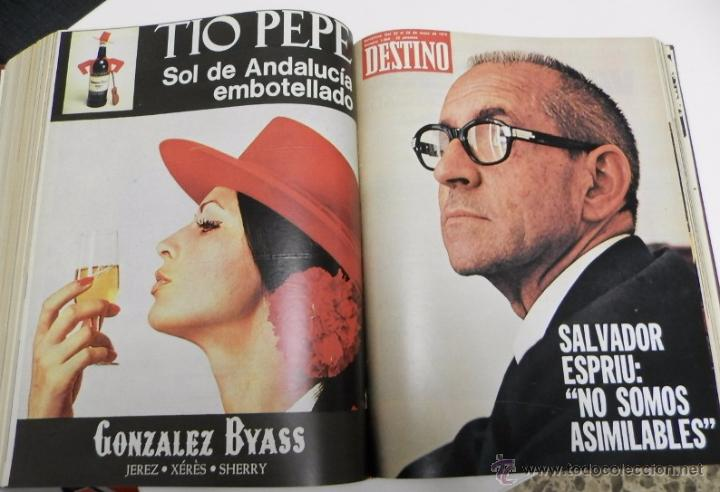 Coleccionismo de Revista Destino: REVISTA DESTINO. AÑO 1975 COMPLETO - Foto 3 - 53333153