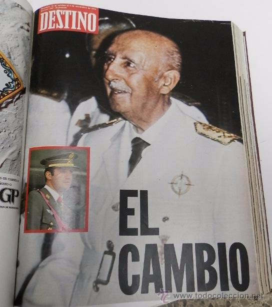 Coleccionismo de Revista Destino: REVISTA DESTINO. AÑO 1975 COMPLETO - Foto 5 - 53333153