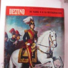 Coleccionismo de Revista Destino: REVISTA DESTINO Nº 1546. DE ISABEL II A LA RESTAURACION. EN PORTADA, GENERAL PRIM. 25 MARZO 1967.. Lote 192926050