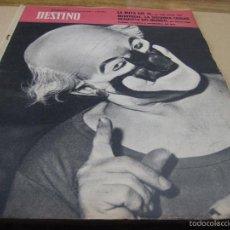 Collectionnisme de Magazine Destino: REVISTA DESTINO. 1263. 21 OCTUBRE 1961. LA RUTA DEL TE.- MONTREAL.- GRANDEZA DEL CIRCO Y SEVIDUMBRE. Lote 152535092