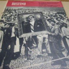 Coleccionismo de Revista Destino: REVISTA DESTINO. 1256. 2 SEPTIEMBRE 1961.- LA CRISIS EN BRASIL. QUADROS. CARTA DE PORTUGAL. Lote 56464238