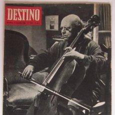 Collectionnisme de Magazine Destino: REVISTA DESTINO - PAU CASALS CUMPLE NOVENTA AÑOS,INVIERNO EN LA COSTA BRAVA, VALLE-INCLAN, XATIVA.... Lote 56985170
