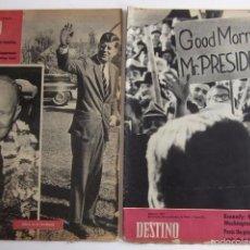 Coleccionismo de Revista Destino: DOS REVISTAS DESTINO - KENNEDY PRESIDENTE DE ESTADOS UNIDOS. Lote 56992692