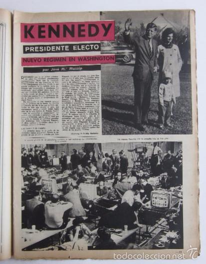 Coleccionismo de Revista Destino: DOS REVISTAS DESTINO - KENNEDY PRESIDENTE DE ESTADOS UNIDOS - Foto 3 - 56992692