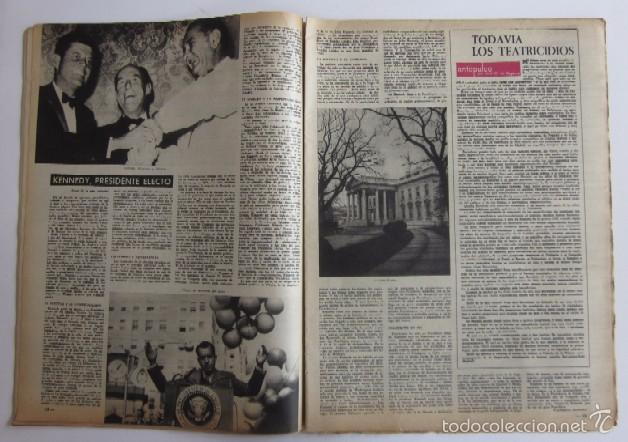 Coleccionismo de Revista Destino: DOS REVISTAS DESTINO - KENNEDY PRESIDENTE DE ESTADOS UNIDOS - Foto 4 - 56992692