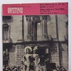 Coleccionismo de Revista Destino: REVISTA DESTINO - ELS GEGANTS DEL PI DE BARCELONA, AMERICA POR LA RUTA DEL PETROLEO POR JOSE PLA.... Lote 56993736