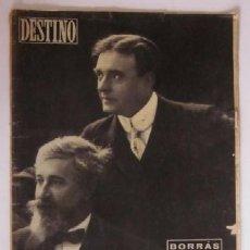 Coleccionismo de Revista Destino: REVISTA DESTINO - EL ACTOR ENRIQUE BORRAS, ITALIA POR JOSE PLA, EL ULTIMO ZAR.... Lote 56993942