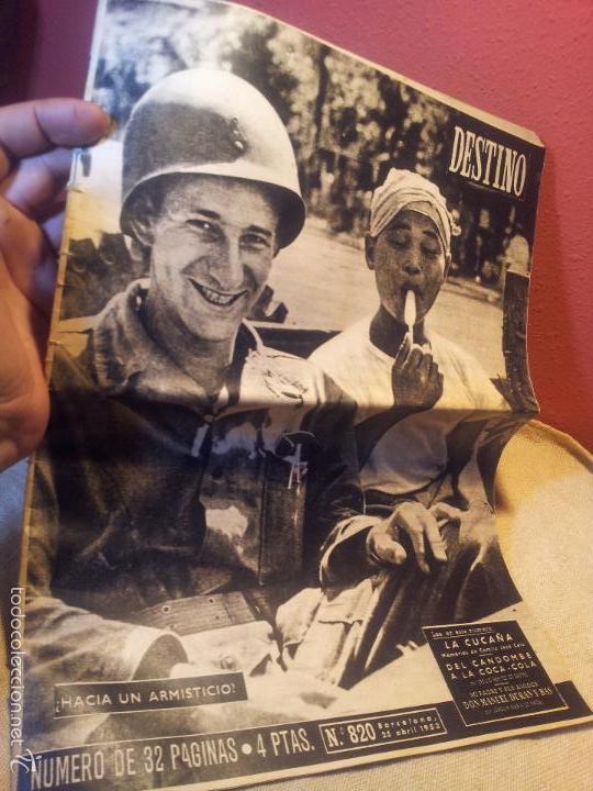 REVISTA DESTINO AÑO.1953 N´820 PORTADA HACIA UN ARMISTICIO (Coleccionismo - Revistas y Periódicos Modernos (a partir de 1.940) - Revista Destino)