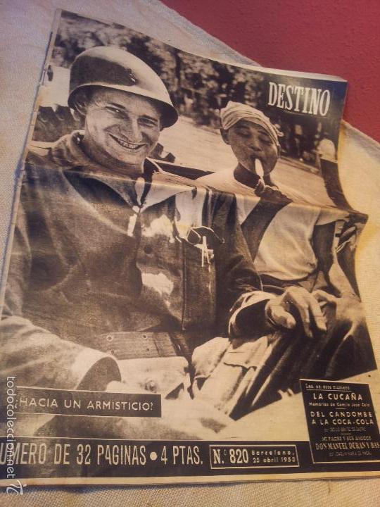 Coleccionismo de Revista Destino: REVISTA DESTINO AÑO.1953 N´820 PORTADA hacia un armisticio - Foto 4 - 57349849