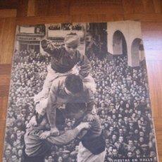 Coleccionismo de Revista Destino: VALLS. TARRAGONA. CASTELLERS. 1951- Nº 705.. Lote 57377885