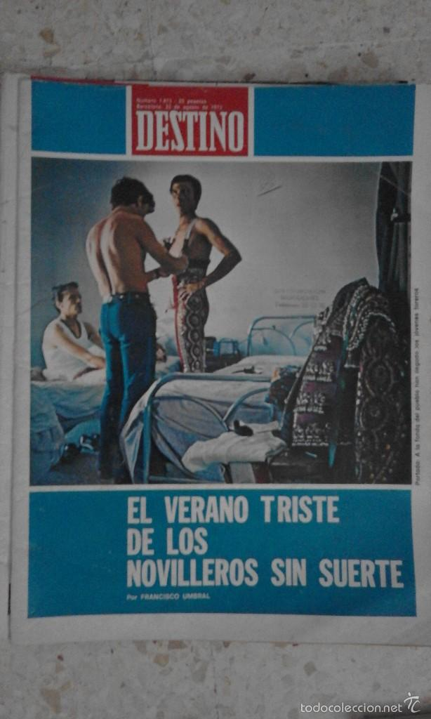 VENDO ANTIGUA REVISTA DESTINO MÚMERO 1873 25 DE AGOSTO DE 1973 BARCELONA (Coleccionismo - Revistas y Periódicos Modernos (a partir de 1.940) - Revista Destino)