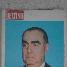 Collectionnisme de Magazine Destino: ANTIGUA REVISTA DESTINO NÚMERO 1891 BARCELONA 29 DICIEMBRE DE 1973 TRÁGICA MUERTE DE CARRERO BLANCO. Lote 58483261