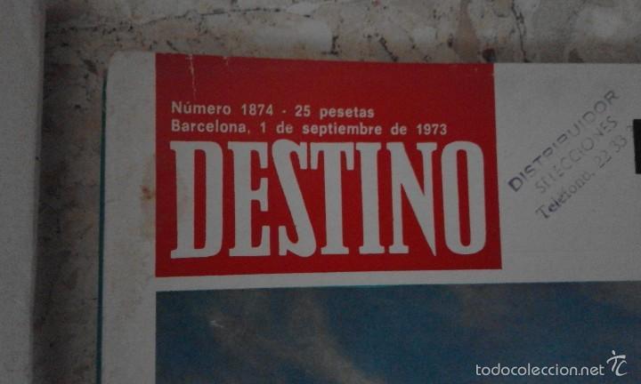 Coleccionismo de Revista Destino: Antigua Revista Destino número 1874 1 de Septiembre de 1973 La nautica deportiva al alcance de todos - Foto 2 - 58483415