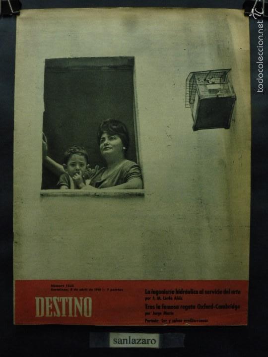 REVISTA DESTINO Nº 1235 - 8 ABRIL 1961-LUZ Y CALMA MEDITERRÁNEAS- LA FAMOSA REGATA OXFORD-CAMBRIDGE (Coleccionismo - Revistas y Periódicos Modernos (a partir de 1.940) - Revista Destino)