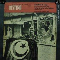 Coleccionismo de Revista Destino: REVISTA DESTINO Nº 1251 - 29 JULIO 1961-PÓLVORA Y SANGRE EN BIZERTA-EL CONFLICTO DE TÚNEZ. Lote 58784446