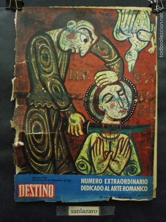REVISTA DESTINO Nº 1260 - 30 SEPTIEMBRE 1961-NÚMERO EXTRAORDINARIO DEDICADO AL ARTE ROMÁNICO (Coleccionismo - Revistas y Periódicos Modernos (a partir de 1.940) - Revista Destino)
