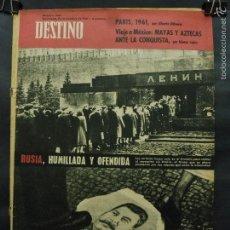 Coleccionismo de Revista Destino: REVISTA DESTINO Nº 1267 - 18 NOVIEMBRE 1961-RUSIA HUMILLADA Y OFENDIDA-VIAJE A MEXICO-PARIS 1961. Lote 58977820