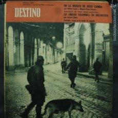 Coleccionismo de Revista Destino: REVISTA DESTINO Nº 1282 - 3 MARZO 1962-LA NOCHE ES LARGA EN ARGELIA-EN LA MUERTE DE JULIO CAMBA. Lote 58979155