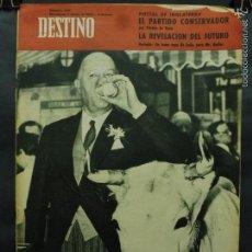 Coleccionismo de Revista Destino: REVISTA DESTINO Nº 1291 -5 MAYO 1962- UN VASO DE LECHE PARA MR. BUTLER-LA REVELACIÓN DEL FUTURO. Lote 59104525