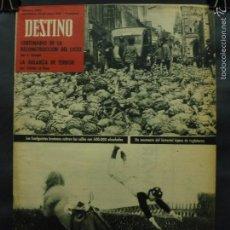 Coleccionismo de Revista Destino: REVISTA DESTINO Nº 1299 -30 JUNIO 1962- LOS HUELGUISTAS BRETONES CUBREN LAS CALLES CON ALCACHOFAS. Lote 59107205