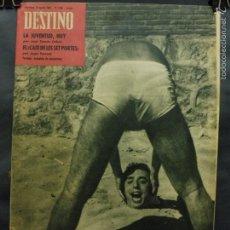 Coleccionismo de Revista Destino: REVISTA DESTINO Nº 1306 -18 AGOSTO 1962- ANÉCDOTA DE VACACIONES-EL CAFÉ DE LES SET PORTES. Lote 59109425