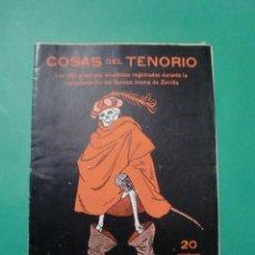 Coleccionismo de Revista Destino: COSAS DEL TENORIO - LAS MAS GRACIOSAS ANECDOTAS REGISTRADAS EN SU REPRESENTACION EDITORIAL CARCELLER. Lote 67353153