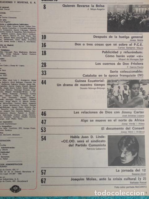 Coleccionismo de Revista Destino: REVISTA DESTINO Nº 2042 ,1976 -SE LLEVAN LA BOLSA-LA HUELGA GENERAL-CARRILLO-REFEREMDUM,VOTAR SI- - Foto 2 - 67430617