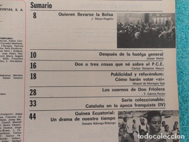 Coleccionismo de Revista Destino: REVISTA DESTINO Nº 2042 ,1976 -SE LLEVAN LA BOLSA-LA HUELGA GENERAL-CARRILLO-REFEREMDUM,VOTAR SI- - Foto 3 - 67430617
