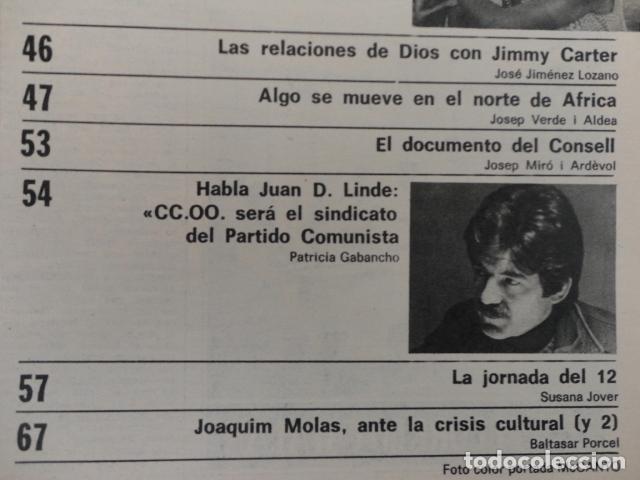 Coleccionismo de Revista Destino: REVISTA DESTINO Nº 2042 ,1976 -SE LLEVAN LA BOLSA-LA HUELGA GENERAL-CARRILLO-REFEREMDUM,VOTAR SI- - Foto 4 - 67430617