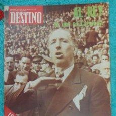 Coleccionismo de Revista Destino: REVISTA DESTINO Nº 2003 ,1976 -EL REY Y CATALUÑA-COMPANYS Y L'ESQUERRA-LOS VASCOS Y FELIPE- G. LORCA. Lote 67486645