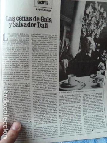 DALI -REORTAGE EN REVISTA DESTINO 1979 (Coleccionismo - Revistas y Periódicos Modernos (a partir de 1.940) - Revista Destino)