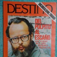 Coleccionismo de Revista Destino: REVISTA DESTINO Nº 2069 AÑO,1977 ,LA CAMPAÑA ELECTORAL -ESPAÑA-CEE - LA CAIDA DE PODGORNY -PAU VILA. Lote 69647289