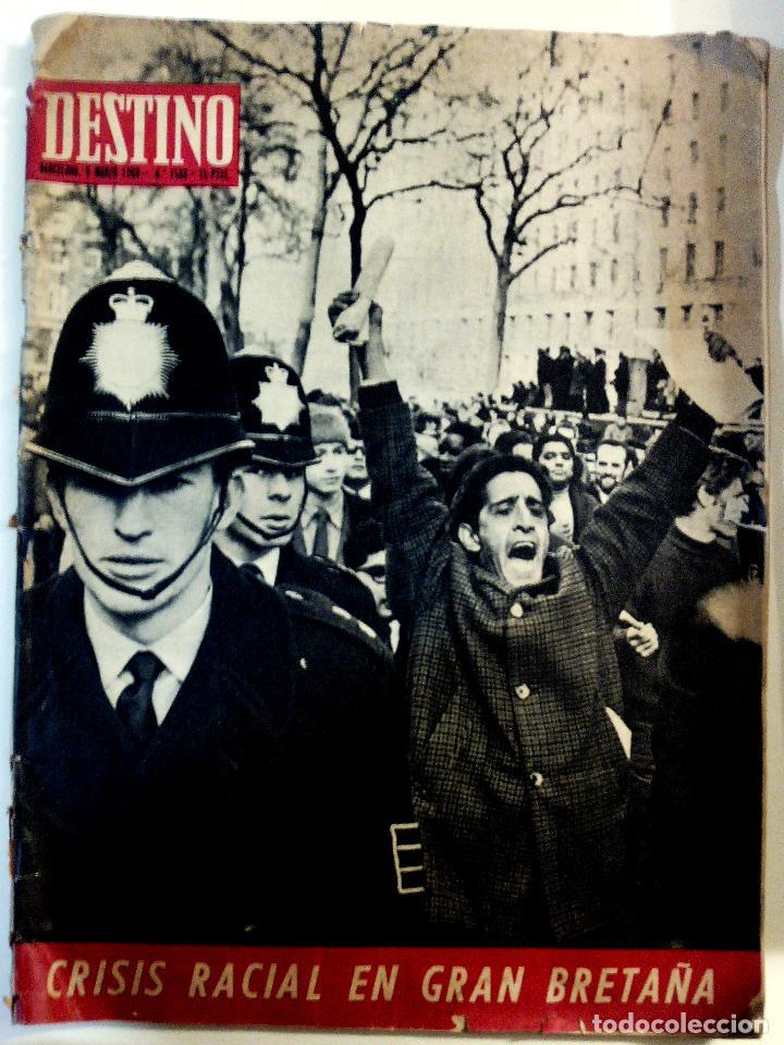 REVISTA DESTINO - AÑO 1968 - Nº 1588 EN PORTADA- CRISIS RACIAL EN GRAN BRETAÑA (Coleccionismo - Revistas y Periódicos Modernos (a partir de 1.940) - Revista Destino)