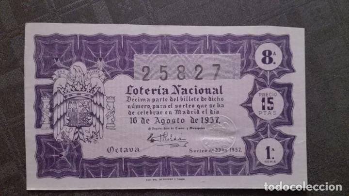 DECIMO DE LOTERIA DE 1957 SORTEO 23 (Coleccionismo - Revistas y Periódicos Modernos (a partir de 1.940) - Revista Destino)