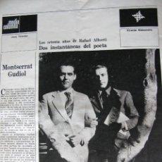 Coleccionismo de Revista Destino: PPRLY - ESPERABÉ HUMORISTA POR ANTONIO ALVAREZ SOLIS. RAFAEL ALBERTI POR PERE GINFERRE. VER SUMARIO.. Lote 82431864
