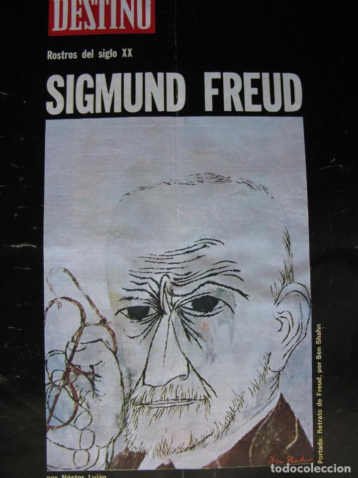 Coleccionismo de Revista Destino: PPRLY - SIGMUND FREUD por Nestor Lujan.Premios Nadal y Josep Pla 1972. Ver sumario. - Foto 6 - 82439904