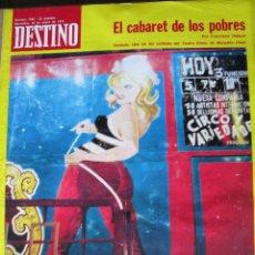 Coleccionismo de Revista Destino: PPRLY - MARY SANTPERE POR MONSERRAT ROIG. EL BARRIO DE PARIOLI POR JOSÉ . VER SUMARIO.. Lote 82480368